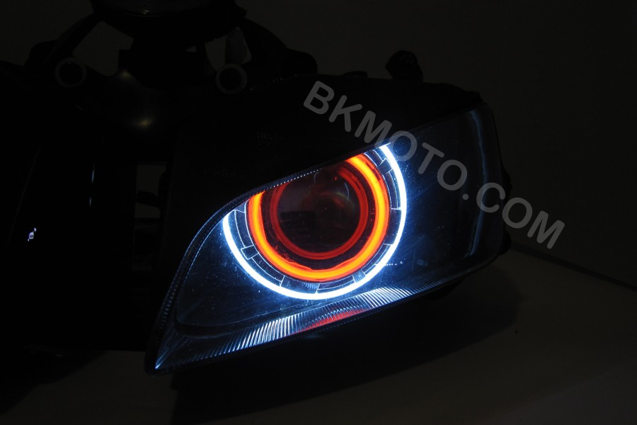 2003 - 2005 R6 u0026 2006+ R6S H1 HID BiXenon Projector headlights kit with angel eyes halo