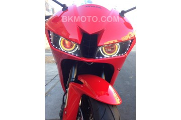 2013-2018 Honda CBR 600RR H1 HID BiXenon Projector headlights kit with angel eyes halo