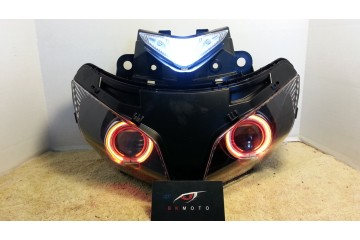 2013 - 2014 Honda CBR500R 500R HID BiXenon Projector kit with angel eyes halo