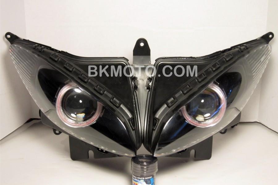 IMG_1855 900x600 2011 yamaha fz6 hid bixenon projector kit with angel eyes halo mc mh1 Basic Headlight Wiring Diagram at reclaimingppi.co