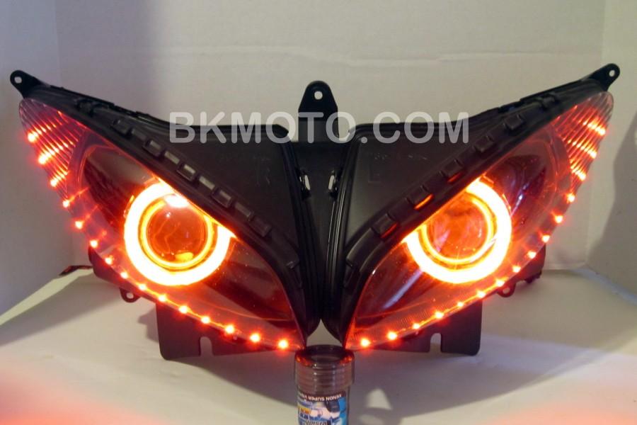 2004 - 2011 Yamaha FZ6 HID BiXenon Projector kit with angel