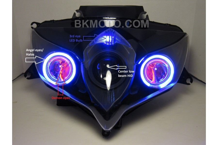 2008 - 2010 GSXR 600 750 HID BiXenon Projector kit with