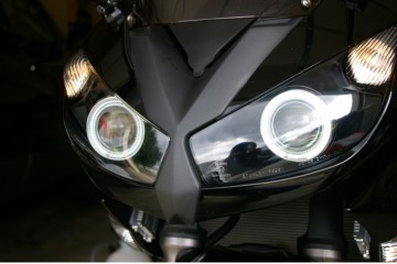 2009 - 2016 Kawasaki Ninja 650 650R 1000 ER-6f Z1000SX HID BiXenon Projector kit with angel eyes halo