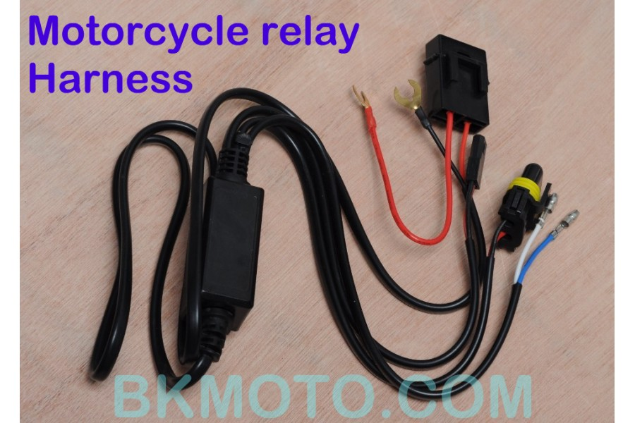 bixenon projector kit with angel eyes halo mc mh1 rh bkmoto com Telecaster Wiring Harness Car Wiring Harness