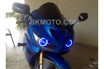 2005 - 2006 ZX6R ZX-6R  636 HID BiXenon Projector kit with angel eyes halo MC-MH1