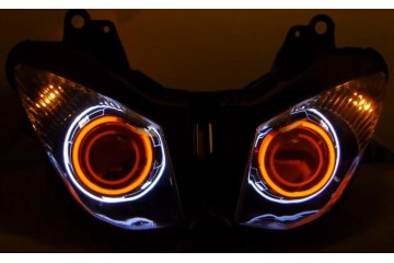 2007 - 2008 ZX6R H1 Dual Halo HID BiXenon Projector HEADLIGHT
