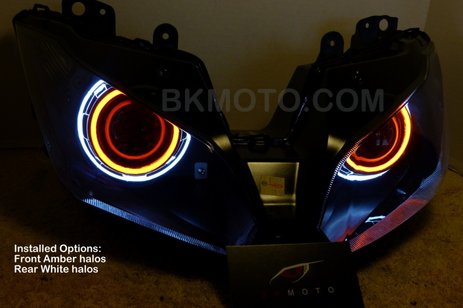 2013 Zx6r 636 H1 Hid Bixenon Projector Headlights Kit With Angel Rhbkmoto: 2015 Zx6r Wiring Harness At Gmaili.net
